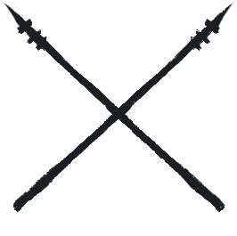 crossed spears symbol