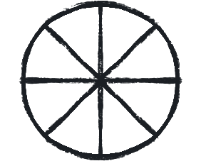 eight spoked wheel symbol
