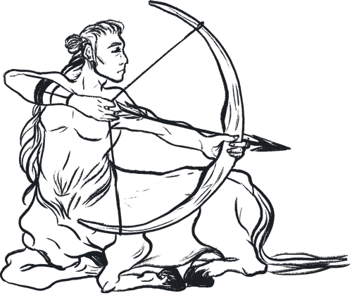 centaur with a bow and arrow