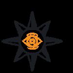 sun with eyeball in the center